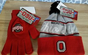 Ohio State hat and gloves