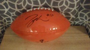 Taylor Gabriel football signature