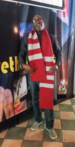 Tony modeling Ohio State scarf