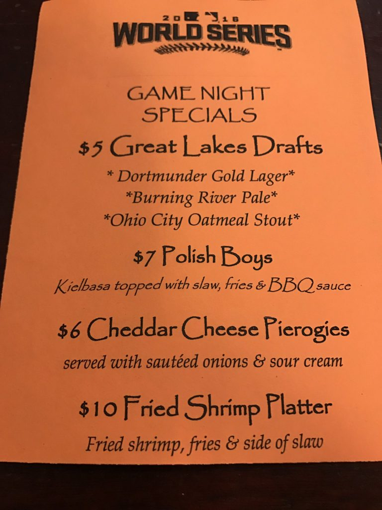 World Series food and drink specials