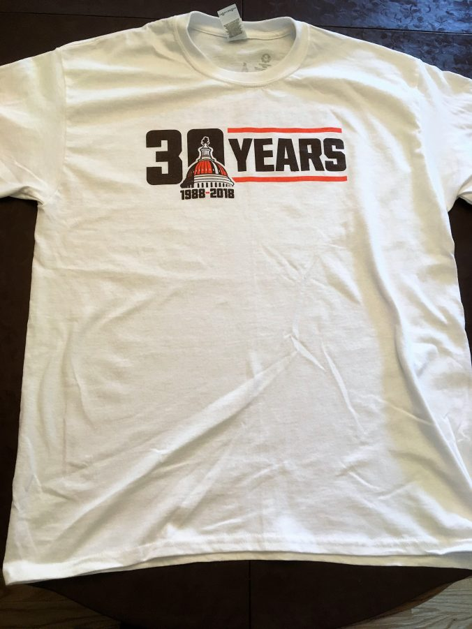 Front of 2018 t-shirt